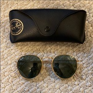 Ray-ban round metal sunglasses with case